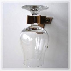 Držák MEGA-KLIPP pro upevnění jednotlivých skleniček, hnědý, 4 ks v sadě